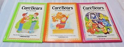 Vintage 80's Care Bears books Hardcover Lot of 3 Parker Brothers VERY Nice Cond