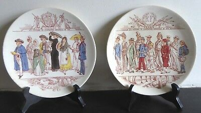 Pair of commemorative Plates: 1889 Paris Exposition Universelle. France & Spain
