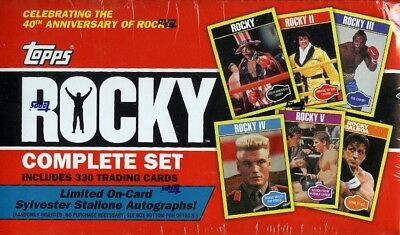 2016 Topps Rocky 40Th Anniversary Complete Factory Set Blowout Cards