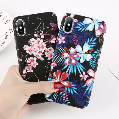 Ultra Thin Flowers Pattern Case Hard Back Cover For Apple iPhone 6 6s 7 Plus