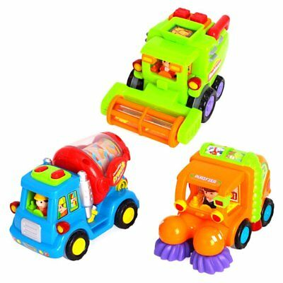 3 pcs Early Education 1 Year Olds Baby Toy Push and Go Friction Powered Car Toys