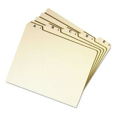Smead Recycled Top Tab File Guides, Alpha, 1/5 Tab, Manila, 25/Set (SMD50176)