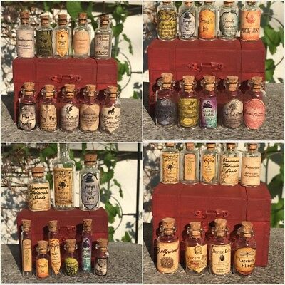 """LABELS ONLY Tiny Apothecary Potion Bottle Harry Potter American Girl 18"""" Doll Sz"""