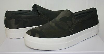 a53de2d6971 Steve Madden Gills Slip On Sneaker style shoes Camo fabric Camouflage New