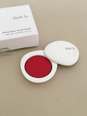 LILAH B. Divine Duo Lip & Cheek Stain - B.Fearless (Red) *NEW* Space NK