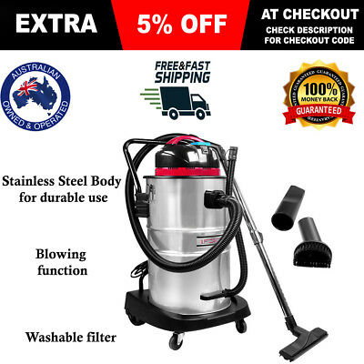 60L Industrial Bagless Wet & Dry Vacuum Cleaner and Blower Drywall Vac