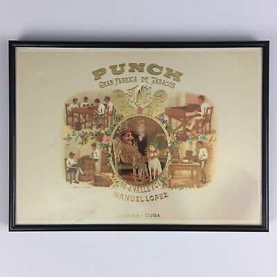 Manuel Lopez Punch Habana Cuba Cigar Framed Lithograph Print Picture Havana