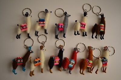 Llama Keychain Adorably Handcrafted from Peru with Saddle Pouches Alpaca