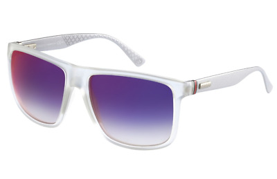212f599f3ef GUCCI Square Men Sunglasses GG 1075 S Crystal Clear Grey Violet Mirrored  JWIHI