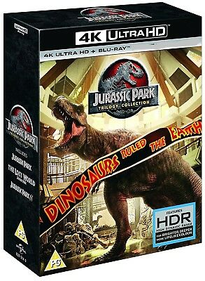 JURASSIC PARK 1-3 TRILOGY COLLECTION (2018 25th Anniversary) 4K UHD BLU-RAY Reg0