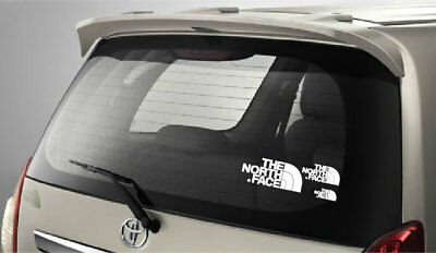3 x The North Face Stickers. Printed In White