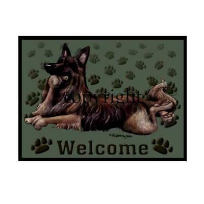 Belgian Tervuren Dog Paws Cartoon Artist Welcome Doormat Floor Door Mat Rug