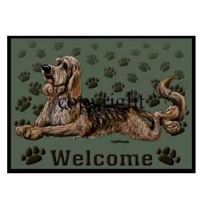 Otterhound Dog Breed Paws Cartoon Artist Welcome Doormat Floor Door Mat Rug