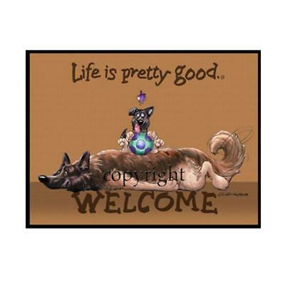 Belgian Tervuren Dog Life Is Good Cartoon Artist Doormat Floor Door Mat Rug