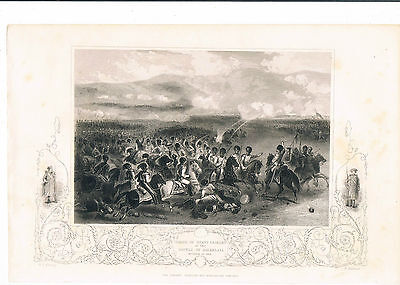 Engraving Charge Of Heavy Cavalry At The Battle Of Balaklava October 25Th 1854