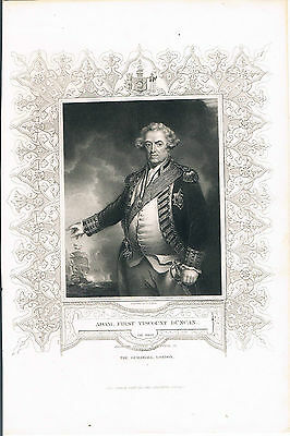 Engraving Admiral First Viscount Duncan Ob 1804