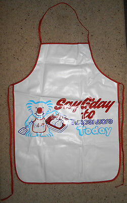 Vintage 70s or 80s promotional Tupperware vinyl apron, hard to find