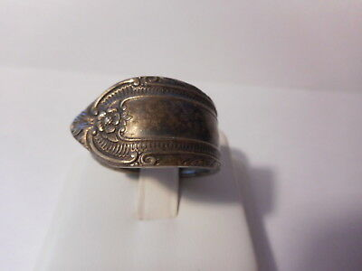 Chunky Silver Plate Spoon Ring Size 10 Vintage