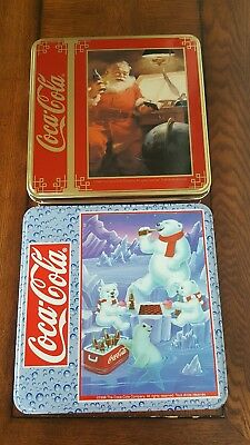 2 Coca Cola Jigsaw Puzzles- Sealed and in Tins