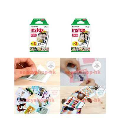 4 Packs Fujifilm instax Mini Film,40 Fuji instant photos Mini 9 8 7s 90 25 55i