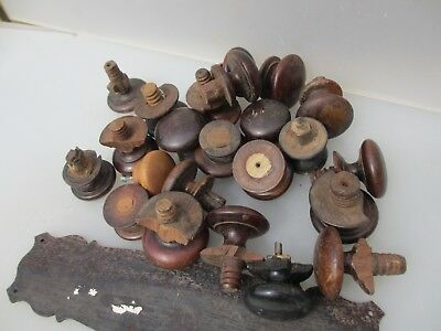 Antique Wooden Chest of Drawer Knobs Handles Pulls Hardware Drawers Old DAMAGED