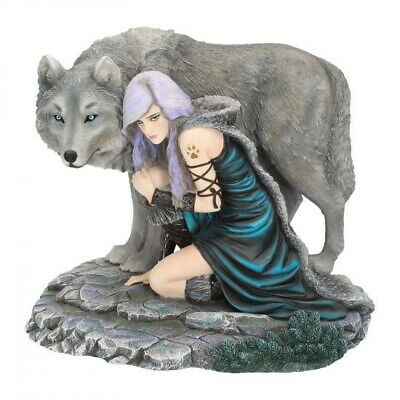 Protector Edition Limited Anne Stokes Nemesis Figurine Wolf Now Maiden Lone Wolf