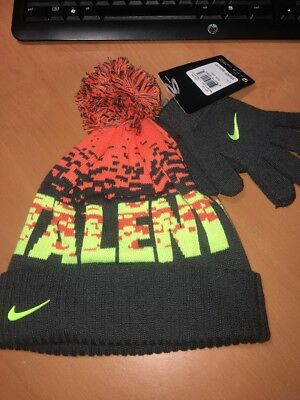 NIke 2 piece Hat Gloves Boys Kids Size 8 - 20 Talented New with tag