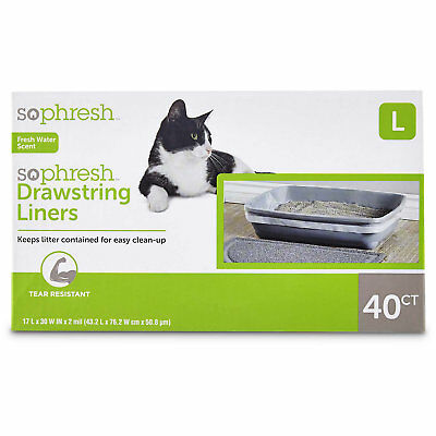 So Phresh Scented Drawstring Cat Litter Box Liners