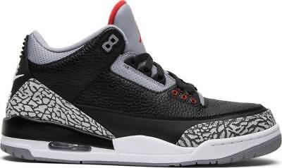 online store e05ae 7d02f NIKE AIR JORDAN 3 Black Cement Retro III OG MENs Authentic 854262-001 lot