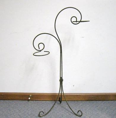 Vintage Wrought Iron Plant Stand Shabby Rust Flower Pot Rings
