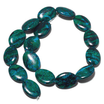 Chrysocolla Color Azurite Jasper Oval Bead 12x16mm Each 15 Inch strand 26 Pieces