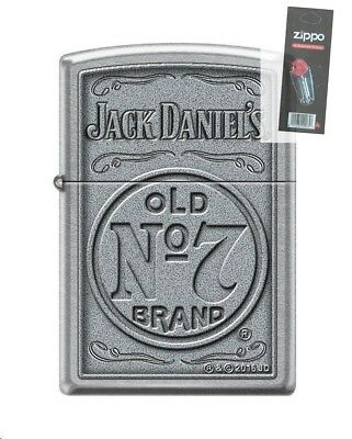 Zippo 4388 Jack Daniels Tennessee Whiskey Old No 7 Lighter + FLINT PACK