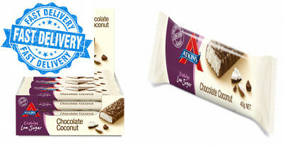 Atkins Endulge Chocolate Coconut, Low Carb, Sugar Snack Bar, 15 x 35g