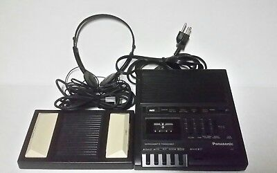 pre owned panasonic rr-930 micro cassette transcriber with foot pedal & headset