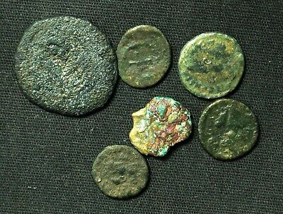 Lot of 6 Ancient Rome/Byzantine Empire/Medieval Nummus Follis