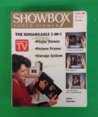 Holson Showbox Photo Viewer (As Seen On TV) Picture Frame System Charcoal - New