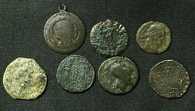 Lot of 7 Ancient Rome/Byzantine Empire/Medieval Nummus Follis