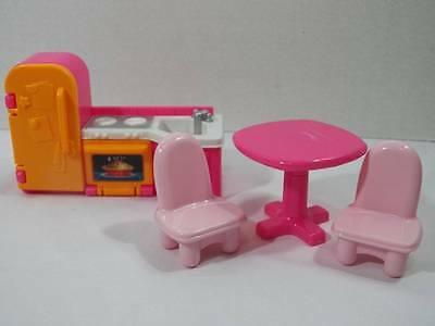 fisher-price my first dollhouse furniture lot parent bed chairs tv