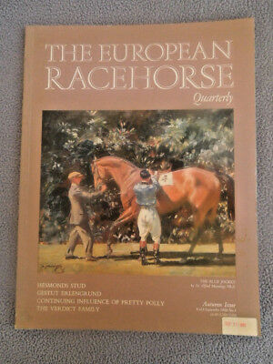 1988 The European Racehorse Magazine ~ The Blue Jockey Cover Painting