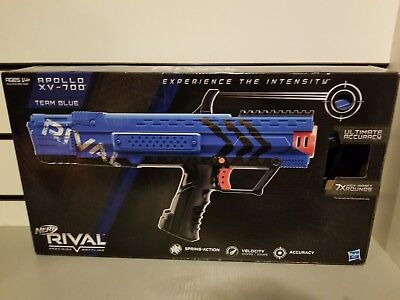 Nerf Rival Apollo Xv-700 Blaster (Blue) opened box