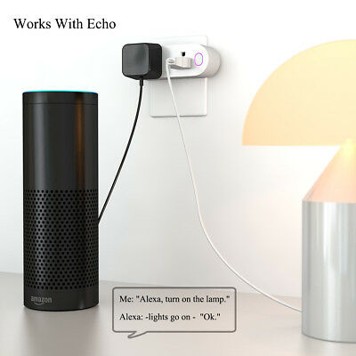 Alexa WiFi Smart Plug Socket Swtich Dual Outlet For Echo Google Control Remote
