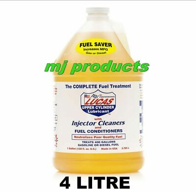 lucas fuel treatment, injector cleaner/fuel conditioner/ cylinder lubricant 4ltr