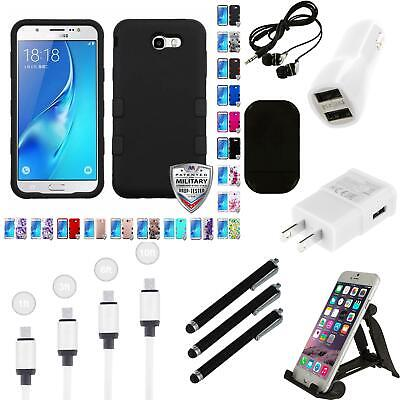 For Samsung Galaxy J7 Sky Pro Hybrid TUFF IMPACT Phone Case Hard Rugged Charger