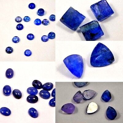 100% Natural Lovely Faceted Tanzanite Cut Cabochon Gemstone SNG17228-17256