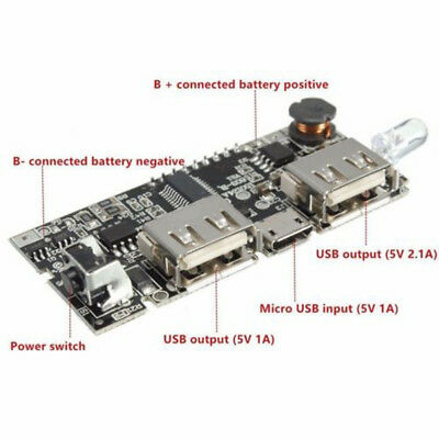 DUAL USB 5V 2 1A Mobile Power Bank 18650 Battery Charger PCB Module Board  Hot