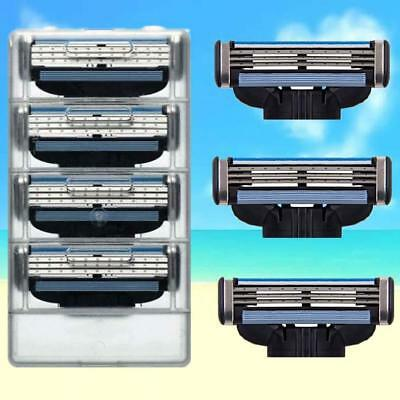 4 Blades For Gillette MACH 3 Razor Shaving Shaver Trimmer Refills Cartridges TA