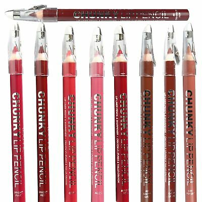 Technic Chunky Lip Liner Pencil With Sharpener Thick Lipliner Nude Pink Red Lips