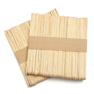 100pcs Ice Cream Cake DIY HandiCraft Wooden Popsicle Original Timber Sticks