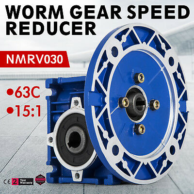 NMRV030 Worm Gear Ratio 15:1 63C Speed Reducer Gearbox 1PC Update Local POPULAR