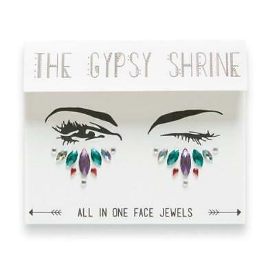 GYPSY SHRINE Dazzling GLITTER CRYSTAL GEM all in one Face & EYE JEWELS Halloween